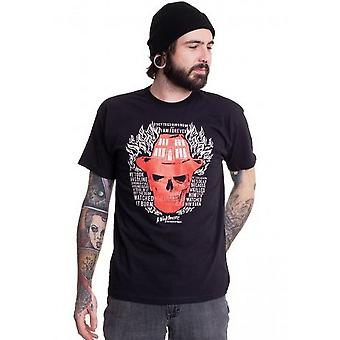 Nightmare On Elm Street Unisex Adult Skull Flames T-Shirt