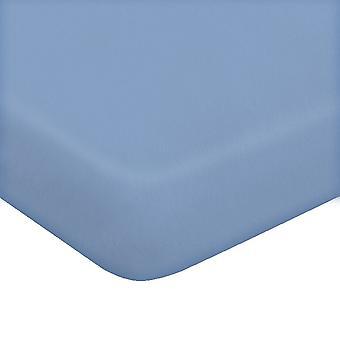 Blatt mit Ecken zwei blaue Farbe in Baumwolle, L170xP200 cm