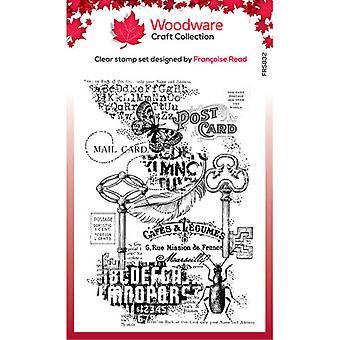 Holzwaren klar Briefmarken - Singles - Ephemera Hintergrund