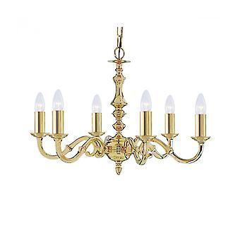 Lámpara Colgante Sevilla De 6 Luces En Latón Antiguo