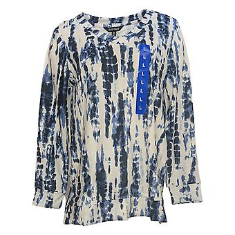 Ellen Tracy Women's Sweater Long Sleeve V Neck Blue