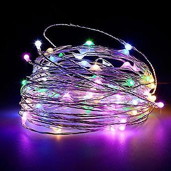 Adjustable copper wire LED light string