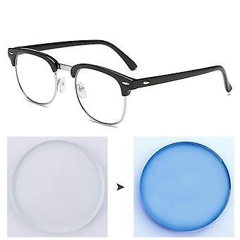 Anti Blue Light Photochromic Finished Myopia Glasses ( Set 2)