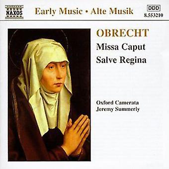 J. Obrecht - Obrecht: Missa Caput; Salve Regina [CD] USA import