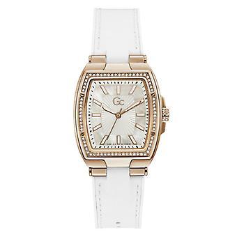 Women:s Watch Guess Collection kellot Y90004L1MF - Valkoinen nahkahihna