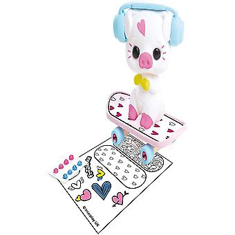 Fuzzikins fuzzi baby pig and decorate their skateboard and accessories, for age