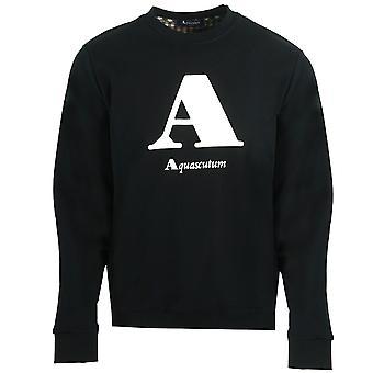 "Aquascutum ""A"" Logo Black Sweatshirt"