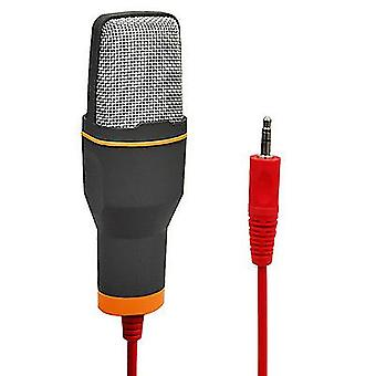 Microphone 3.5mm Audio Wired Stereo Condenser Microphone With Holder Stand Clip