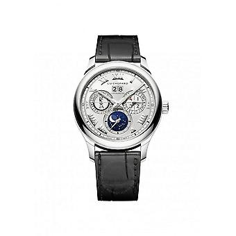 Chopard L.U.C Lunar One Sunray Satin-Brushed Silver Dial Automatic Men's Watch 161927-1001