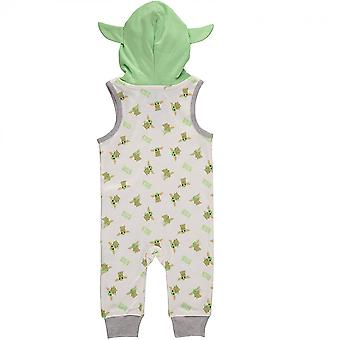 Star Wars The Mandalorian Child Sleeveless Romper With Hood