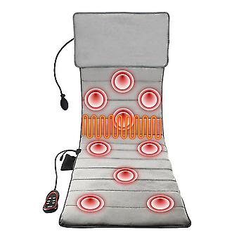 Cervical massager pad electric heating vibrating back massagee chair home office neck waist back multifunctional massage cushion