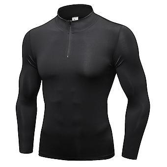 Slim Fit Mens Sports Jackets / Shirt Long Sleeve Top Sweatshirts