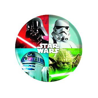 Assiette en plastique mélaminé Star Wars 21 cm