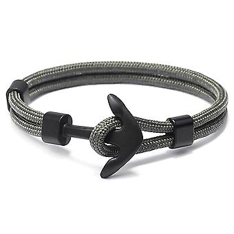 Fashion Survival Rope Chain Multilayer Anchor Charm Bracelets