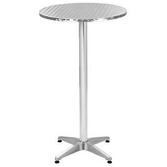 vidaXL Składany Stół Ogrodowy Srebrny 60x(70-110) cm Aluminium