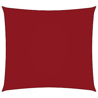 vidaXL الظل الشراع أكسفورد النسيج ساحة 4x4 م الأحمر