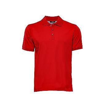 Plain red polo collar t-shirt