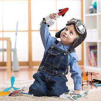 FengChun 5 verschiedene Flugzeug Fahrzeug Sets, 5-in-1 fliegende Spielzeug, STEM Spielzeug für Kinder Teens, Mädchen