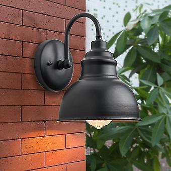 LED Wall Lamp Outdoor Garden Pasture Vintage Wall Lantern Black IP65 Waterproof Industrial Decor