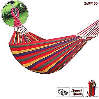 1.5M red garden hammock outdoor swing thick canvas anti-rollover single double adult hanging chair dt4898