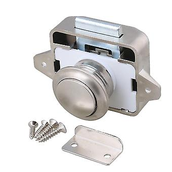 For Pearl Nickel Keyless Push Button Cabinet Latch for RV Camper Motorhome WS44