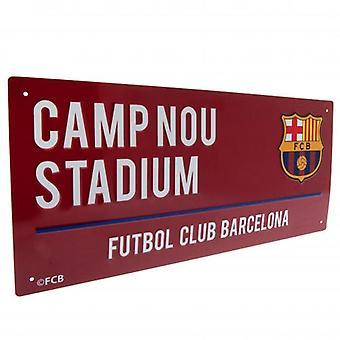 FC Barcelona Bourgogne Street Sign