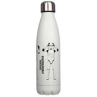 Oryginalna butelka na napoje z białej stali nierdzewnej Stormtrooper White Stainless Steel Hot & Cold Thermal Insulated Drinks Bottle