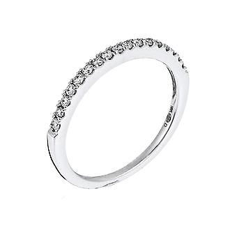 Anillo de la Alianza 'Diamond Tower' Oro Blanco y Diamantes
