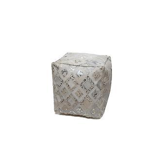 D-merkki Istuin puff 1K0078 Harmaa/Hopea 45x45cm