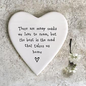 """Öster om Indien Porslin Hjärtkust"""" Det finns många vägar... '"""