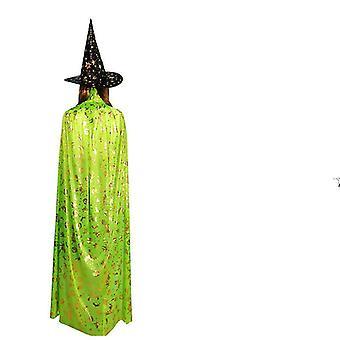 Vampires Hat Cloak Medieval Cloak Witch Cloak Masquerade Cape Halloween Costumes(80cm)