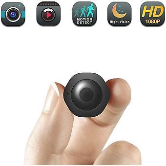 كاميرا تجسس مصغرة / كاميرا خفية - كاميرا جليسة أطفال - كشف الحركة - لاسلكي HD 1080P، كاميرا أمنية داخلية مخفية، مناسبة جدا للمنزل والمكتب (أسود)