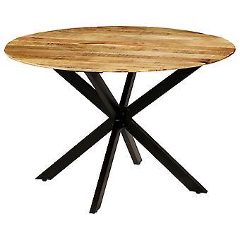 vidaXL ruokasalin pöytä Karkea mangopuu kiinteä ja teräs 120 x 77 cm
