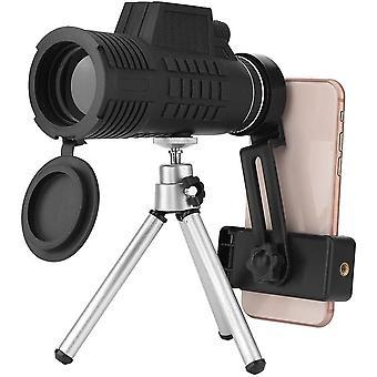 50 * 60 teleskooppilinssi jalustalla matkapuhelimeen, kannettavat vedenpitävät HD-optiset lasit monokulaarinen puhelinkameralinssi 1.