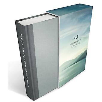 NLT المصور دراسة الكتاب المقدس ديلوكس الكتان لائحة رمادي من قبل Tyndale