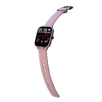الساعات البسيطة gt168 ساعة ذكية متعددة الوظائف رصد معدل ضربات القلب ip67 تعقب الرياضة للماء (الوردي)