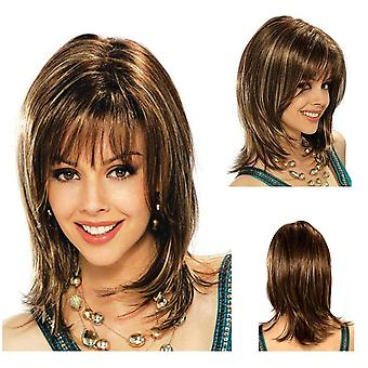 Lady Short Straight Bangs Wig For Women