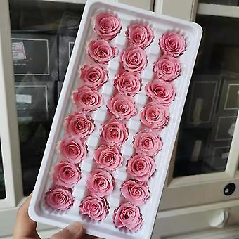 2cm/24PCS, mini bewaarde rose hoofd, eeuwige echte rozen voor bruiloft partij home decoratie