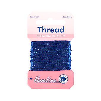 SISTE FÅ - 10m Royal Blue Glitter Tråd for håndverk | Garnledning og elastisk for håndverk
