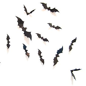 Halloween 3D Lepakot sisustus 16PCS 3D Bat Tarrat sisä ulkona Halloween seinäkoristeet