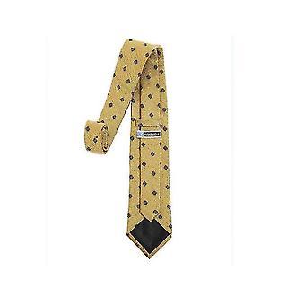 Mens Classic Skinny Woven Thin Necktie(Yellow)