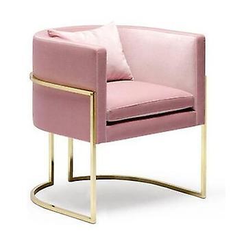 Moderna minimalista mesa de pregas de mármore duplo e conjunto de cadeiras