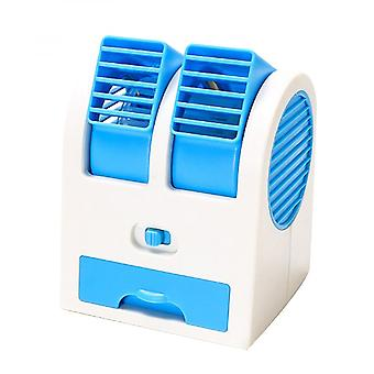 Portable Battery Powered/usb Air Conditioner Fan Dual Bladeless Safe Mini Fan