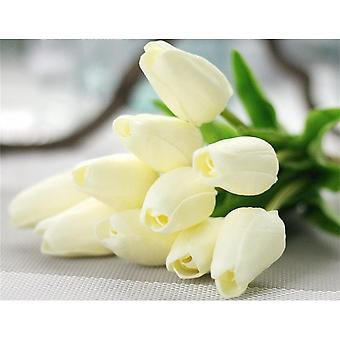 30 stk Real-touch kunstig tulipan blomster Hjem Wedding Party Decor