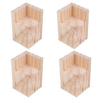 Pöydän jalat 4kpl massiivinen puinen huonekalu jalkojen nousu sohva sohvapöytään 6x6x8cm
