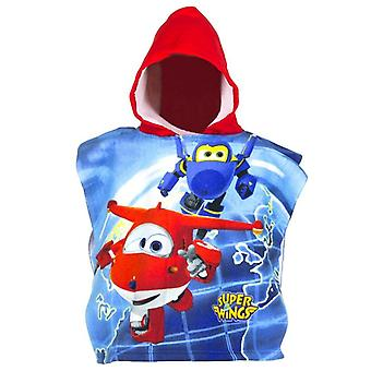 Super wings kids poncho towel sw1798pon-red
