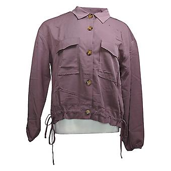 Brittany Humble Women's Cropped Cargo Jacket Purple 755972