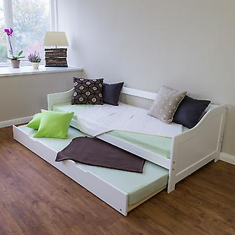 Kinderbett - Teen Bett - Kinderbett - Kinderbetten - Jungen - Mädchen - Modern - Weiß - Kiefernholz - 206 cm x 98 cm x 53 cm