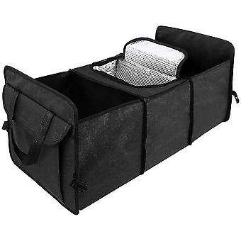 Vehicle organizers car boot organiser with built-in cooler bag
