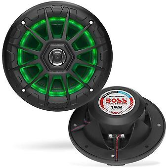 Motor vehicle speakers mrgb55b 5.25 Inch marine speakers - weatherproof  150 watts per pair  75 watts each  multi-color